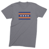 Mens/Unisex Chicago Bears Flag Mens Crew The T-Shirt Deli, Co. LARGE