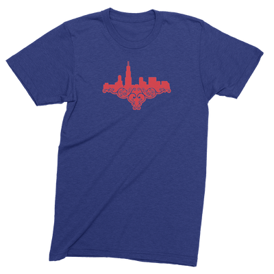 Mens/Unisex Chicago Skyline Love Mens Crew The T-Shirt Deli, Co. EXTRA SMALL