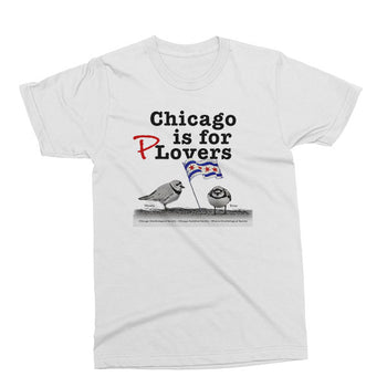 White Chicago is for plovers version 2 unisex t-shirt