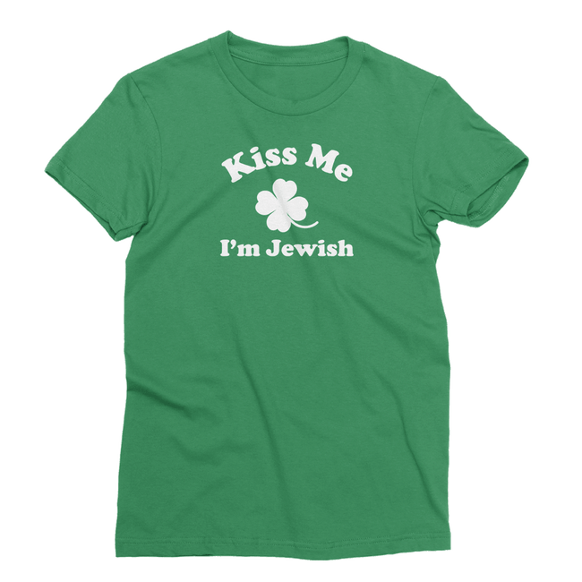 Kiss Me I'm Jewish St. Patrick's Day The T-Shirt Deli, Co. EXTRA LARGE