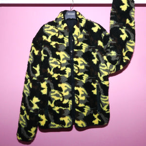 CAMO TEDDY BEAR REVERSIBLE JACKET - YELLOW MULTI