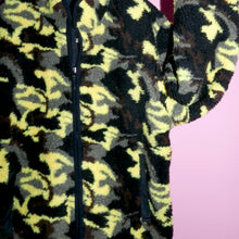 Load image into Gallery viewer, CAMO TEDDY BEAR REVERSIBLE JACKET - YELLOW MULTI