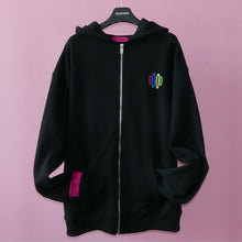 Load image into Gallery viewer, REALIZE GOOD ZIP-UP HOODIE (Black)