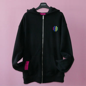 REALIZE GOOD ZIP-UP HOODIE (Black)