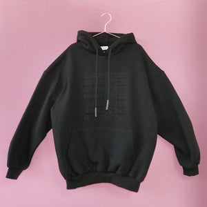 LIMITED EDITION BLACK ON BLACK GOODFORYOU HEART HOODIE