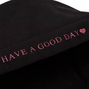 HOLIDAY GOODFORYOU GLITTER HEART HOODIE [PINK]