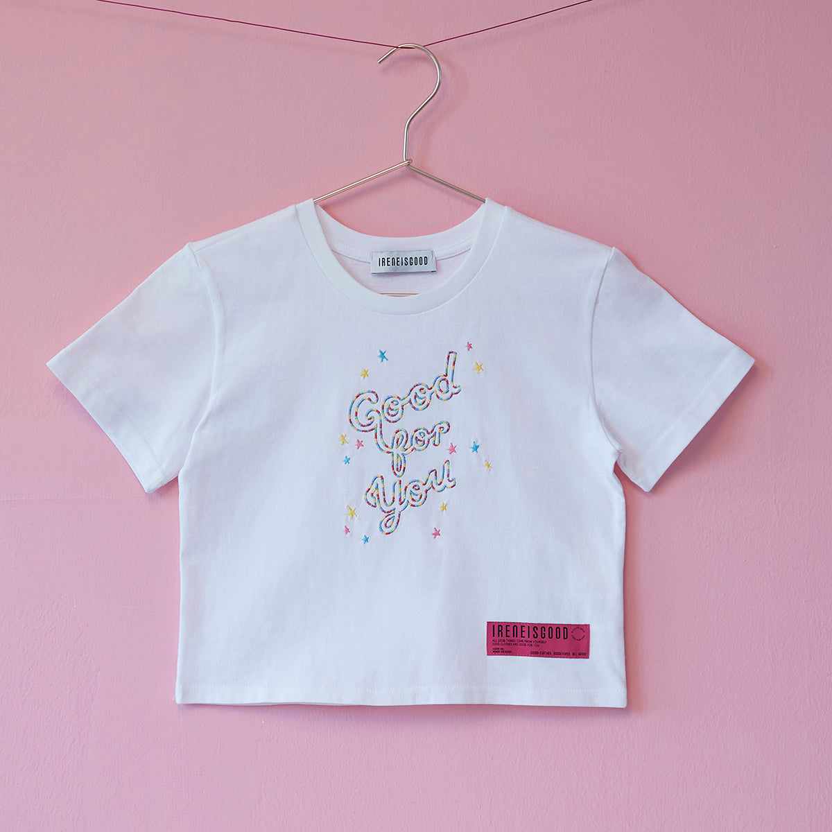 SPRINKLED #GOODFORYOU CROP TEE