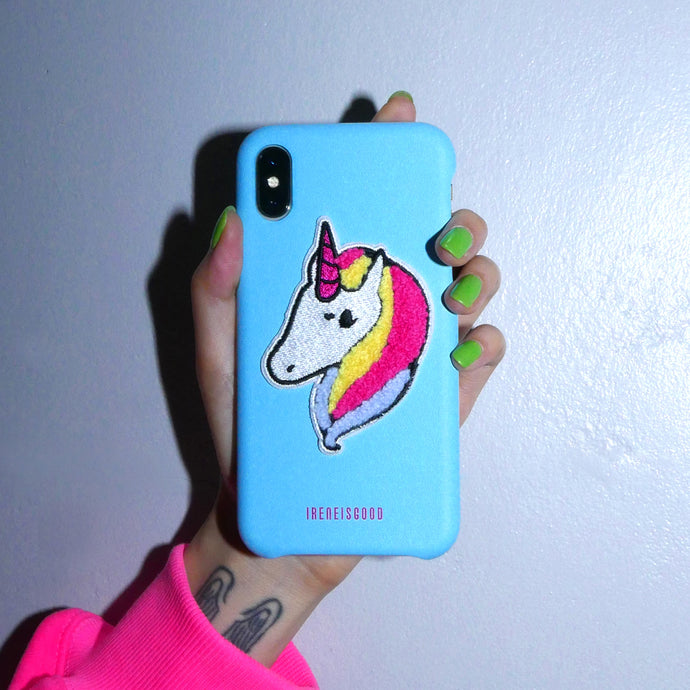 FLUFFY UNICORN PHONE CASE