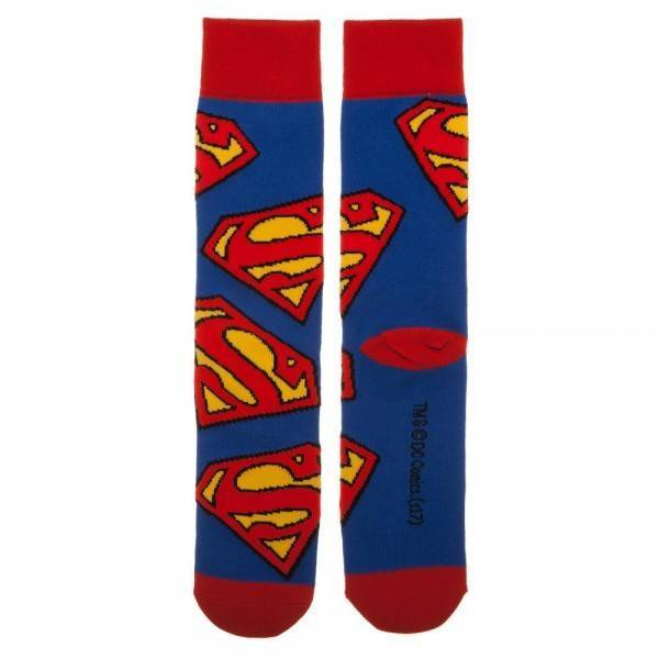 1f070bb85f2 Superman Large All-Over Print Crew Socks-Crew Socks-Bioworld-sock-.  Superman Large All-Over Print Crew Socks-Crew Socks-Bioworld-sock-