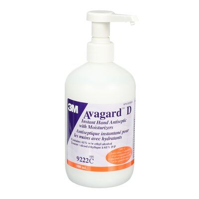 3M™ Avagard™ D Instant Hand Antiseptic, 9222C, pump bottle, 500 mL (16.9 fl. oz.)
