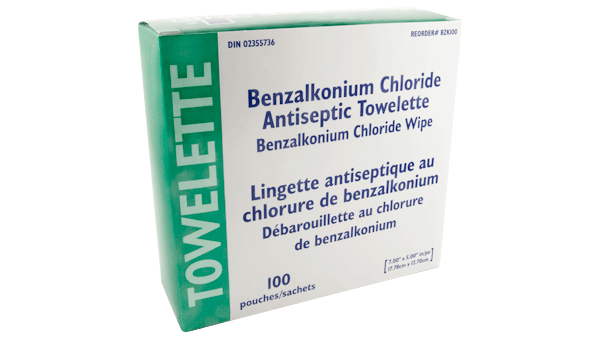 "BZK-Alcohol-Free-Antiseptic-Cleansing-Towelettes-5"" X 7""-ZK100"
