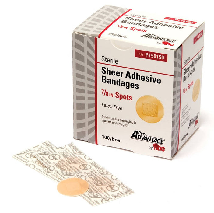 Pro Advantage Sheer Adhesive Bandages spots