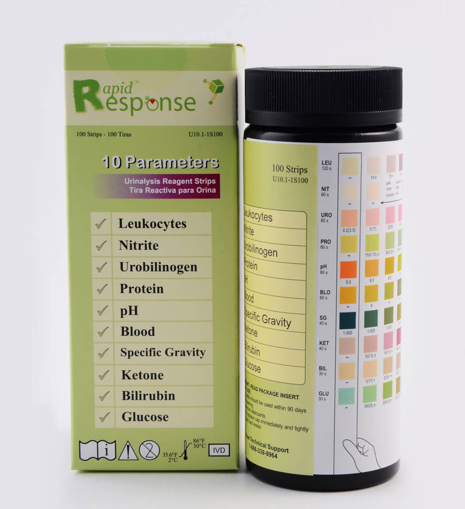 Rapid Response 10 Parameter Urinalysis Reagent Strip-U10.1-1S100_b