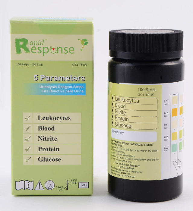 Rapid Response 5-Parameter Urinalysis Reagent Strip-U5.1-1S100_c