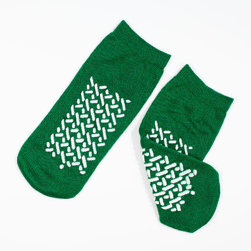dynarex-double-sided-slipper-socks-medium-green-2191