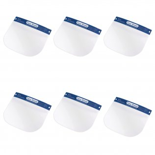 Face Shield Headsets, 6 Pack