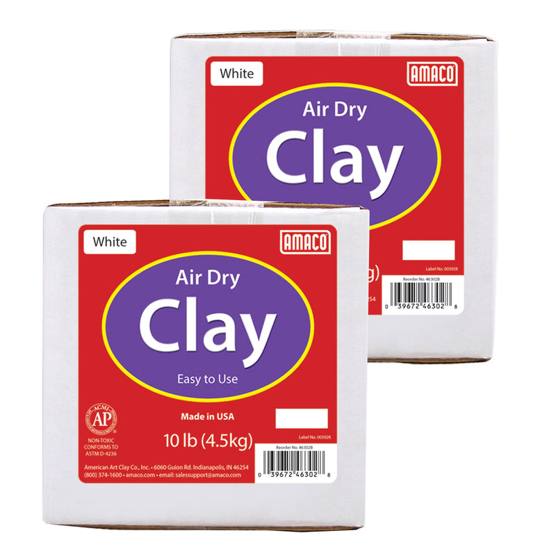(2 Ea) White Air Dry Clay