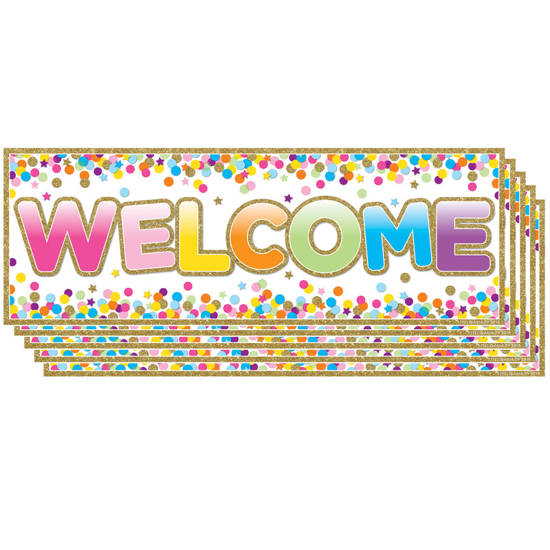 (5 Ea) Magnetic Welcome Banner Confetti