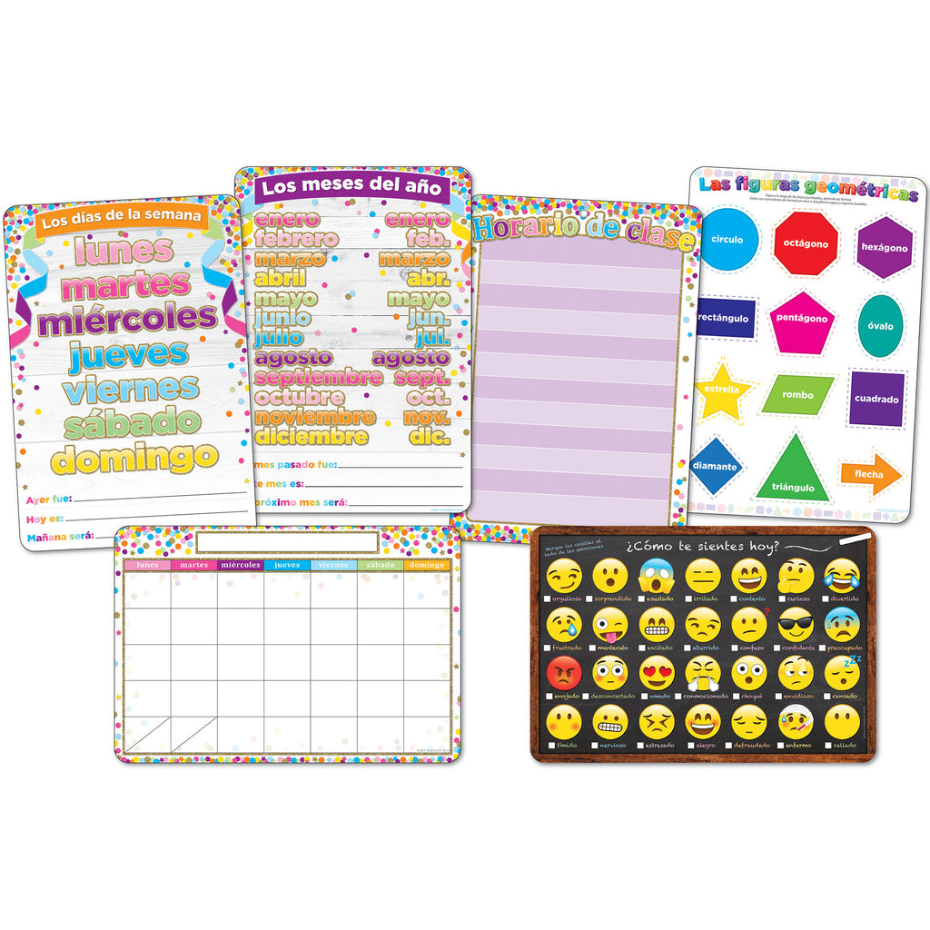 6pk Spanish Classroom Charts Smart Poly