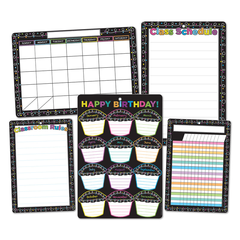 5pk Chalk Dots W- Loops Class Chrts Smart Poly