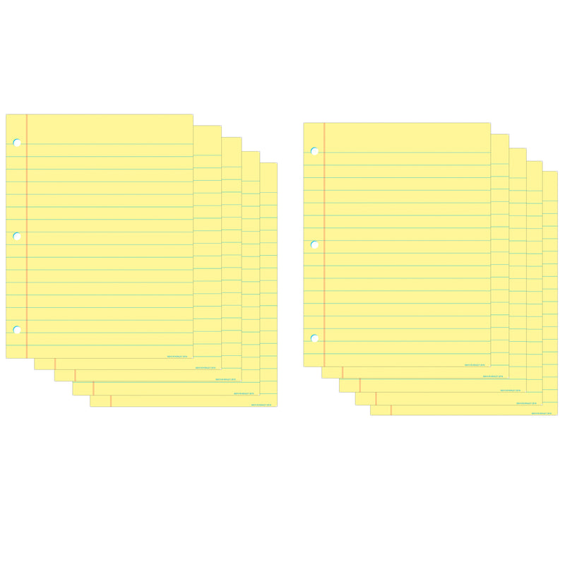 (10 Ea) Chart Notebook Paper Yellow Dry-erase Surface