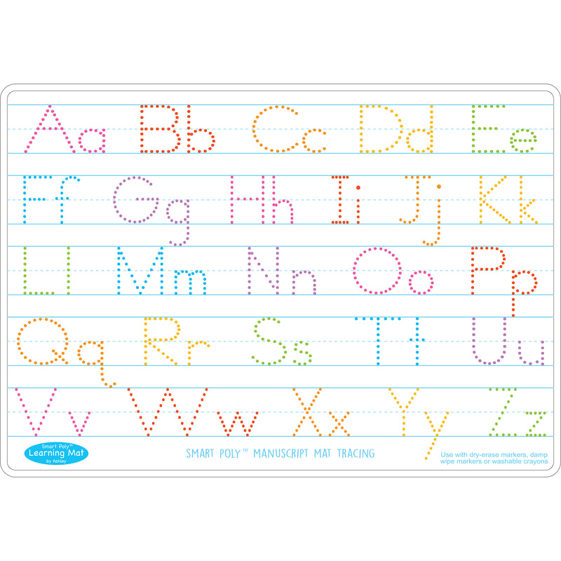 Manuscrpt Writing Learn Mat 2 Sided Write On Wipe Off
