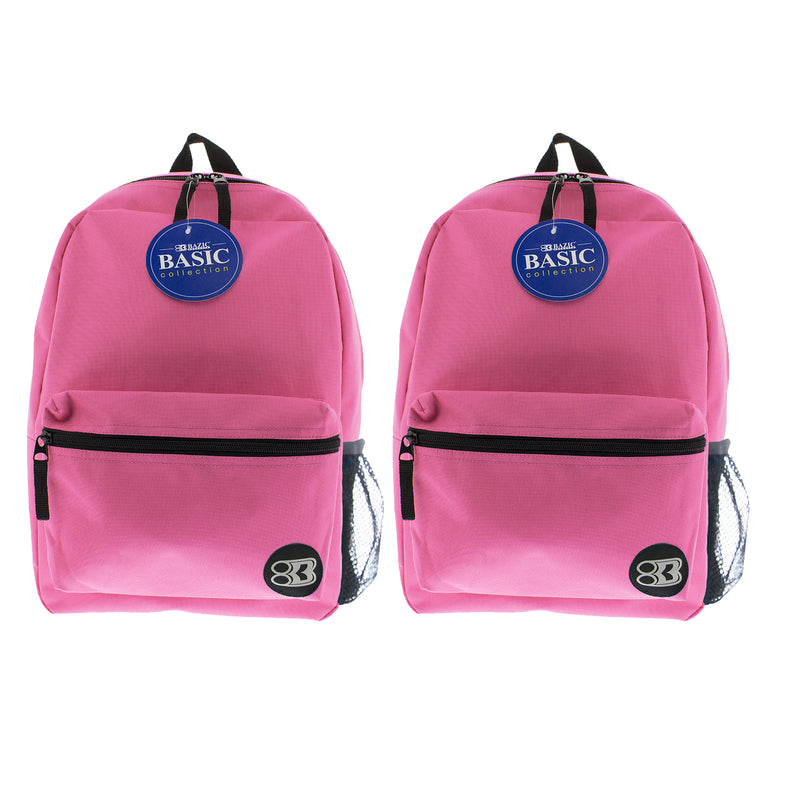 (2 Ea) 16in Fuchsia Basic Backpack