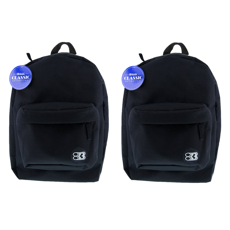 (2 Ea) 17in Black Classic Backpack