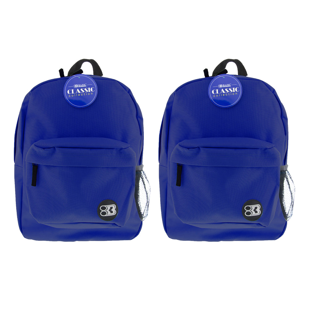 (2 Ea) 17in Blue Classic Backpack
