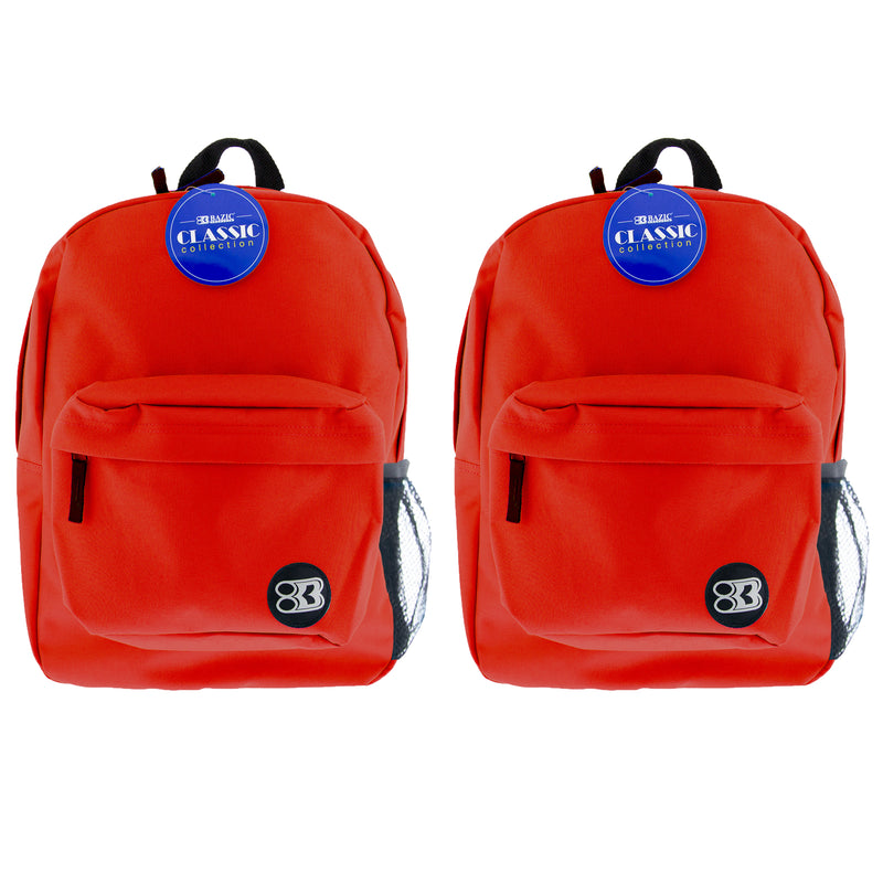 (2 Ea) 17in Red Classic Backpack