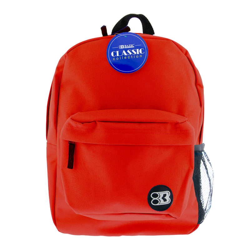 17in Red Classic Backpack