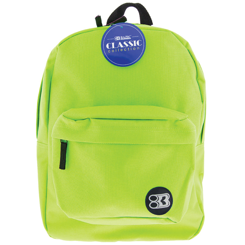 17in Lime Green Classic Backpack