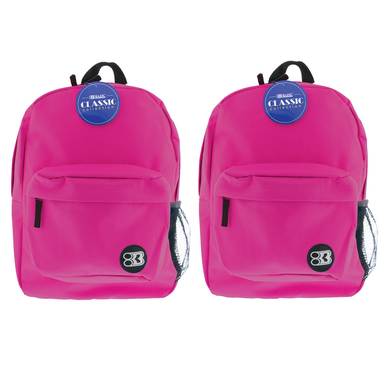 (2 Ea) 17in Fuchsia Classic Back Pack