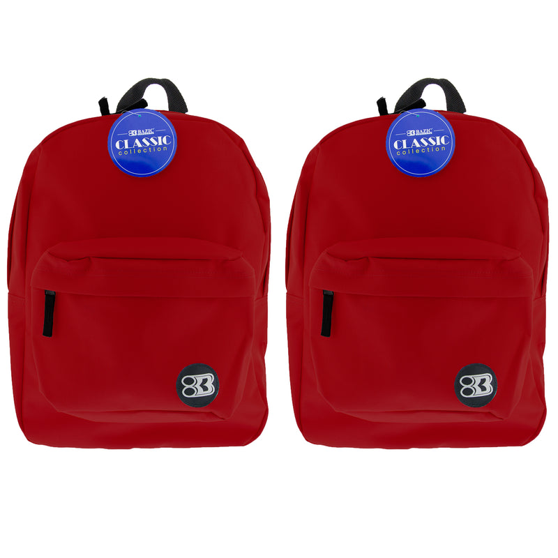 (2 Ea) 17in Burgundy Classic Back Pack