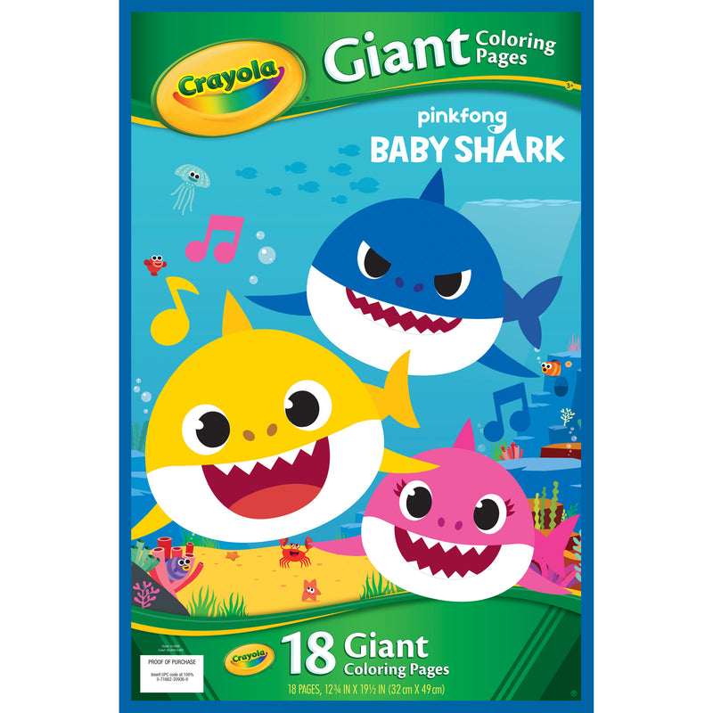 Giant Coloring Pages Baby Shark