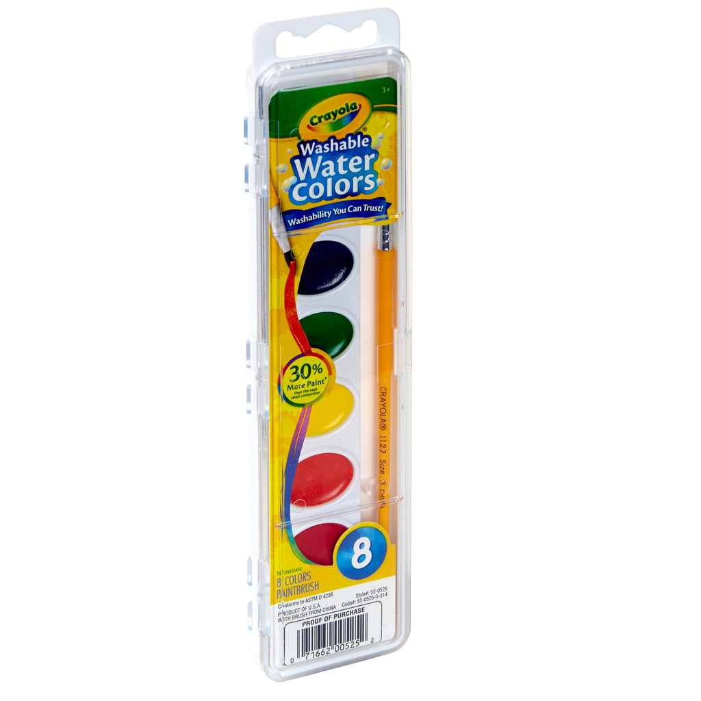 Washable Watercolors 8 W-brush