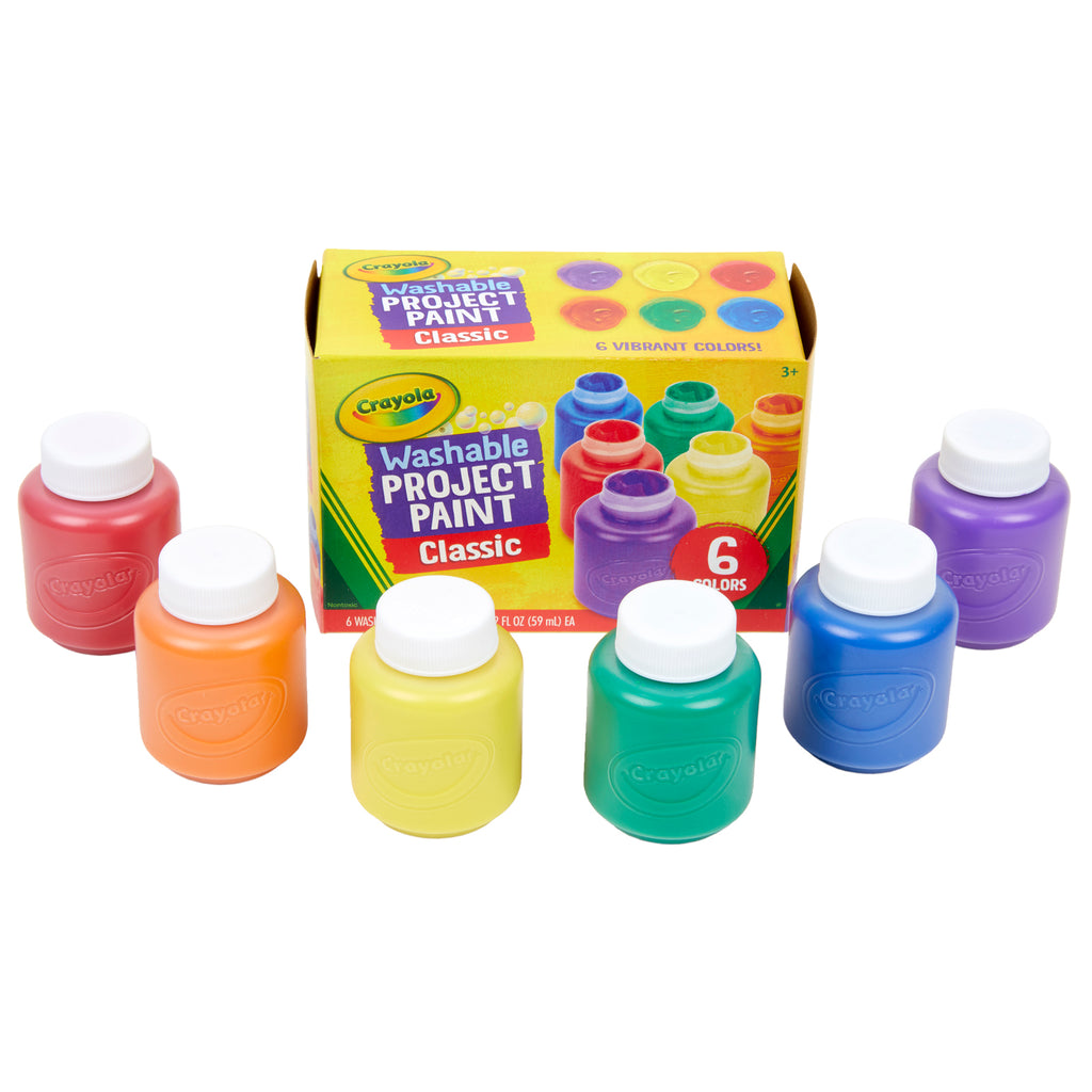 Washable Kids Paint 6 Jar Set