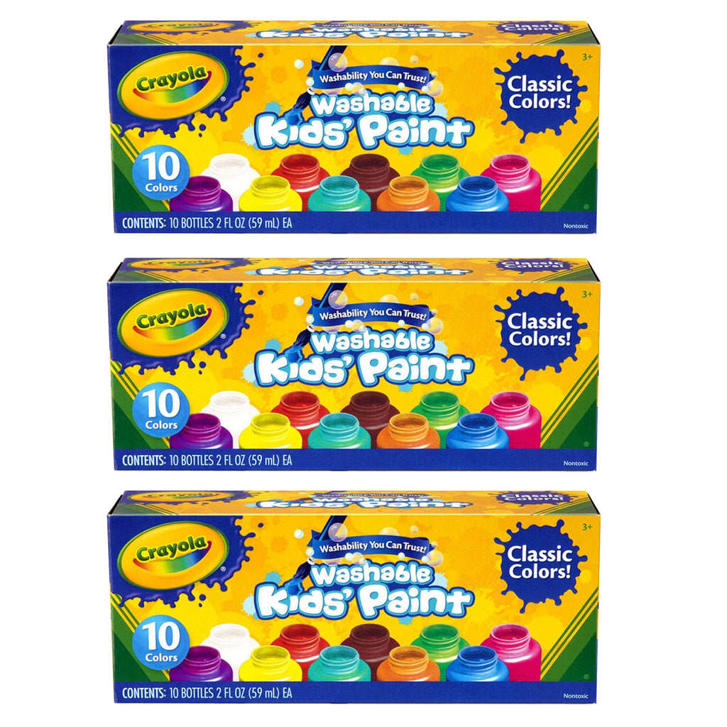 (3 Bx) Washable Kids Paint Set Of 1 0 Jars