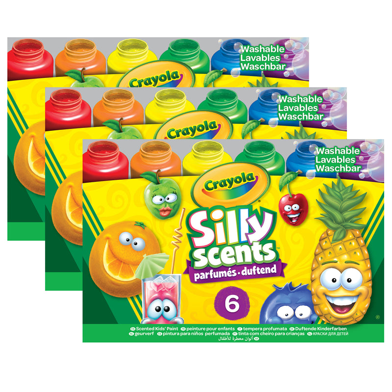 (3 Pk) 6ct Silly Scents Washble Kids Paint