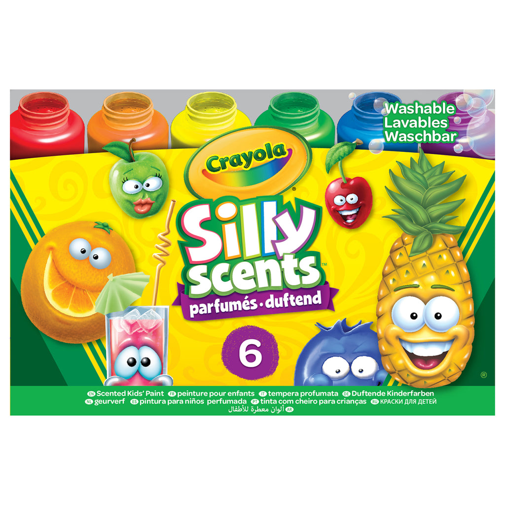 6ct Silly Scents Washble Kids Paint