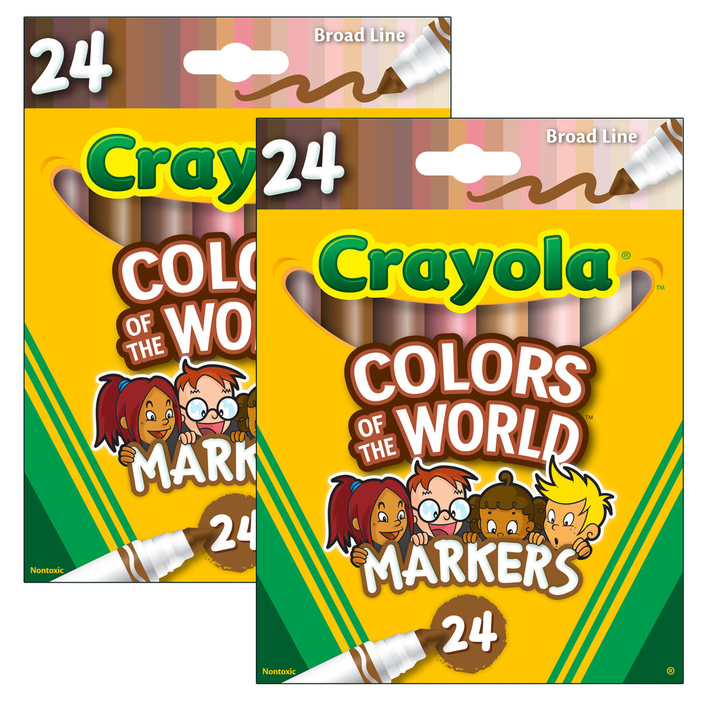 (2 Pk) Colors Of The World Markers 24pk