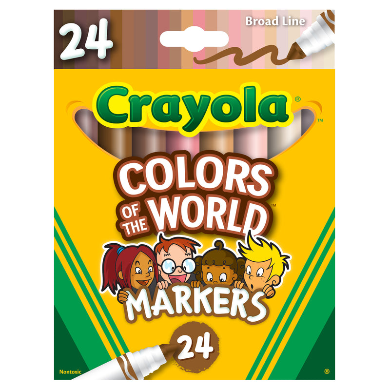 Colors Of The World Markers 24pk