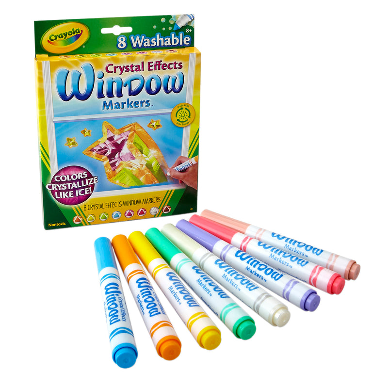 (4 Pk) Crayola Crystal Effects Window Markers