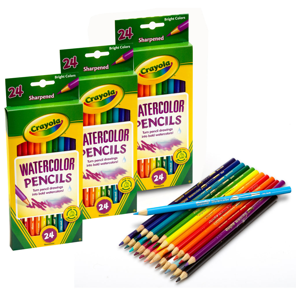 (3 Pk) Watercolor Colored Pencils 24pk