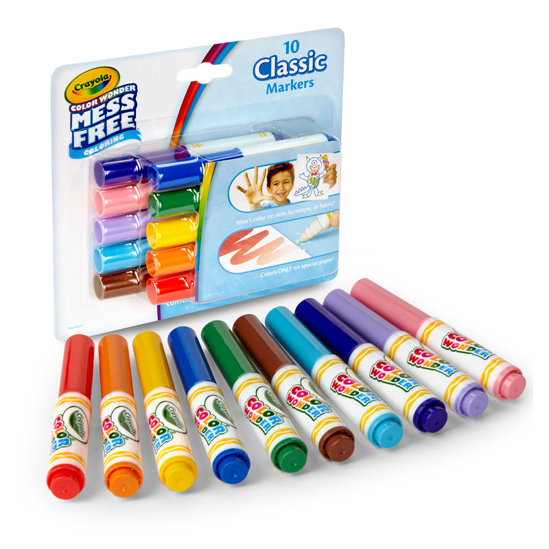 10ct Color Wonder Mini Markers Classic Colors Washable