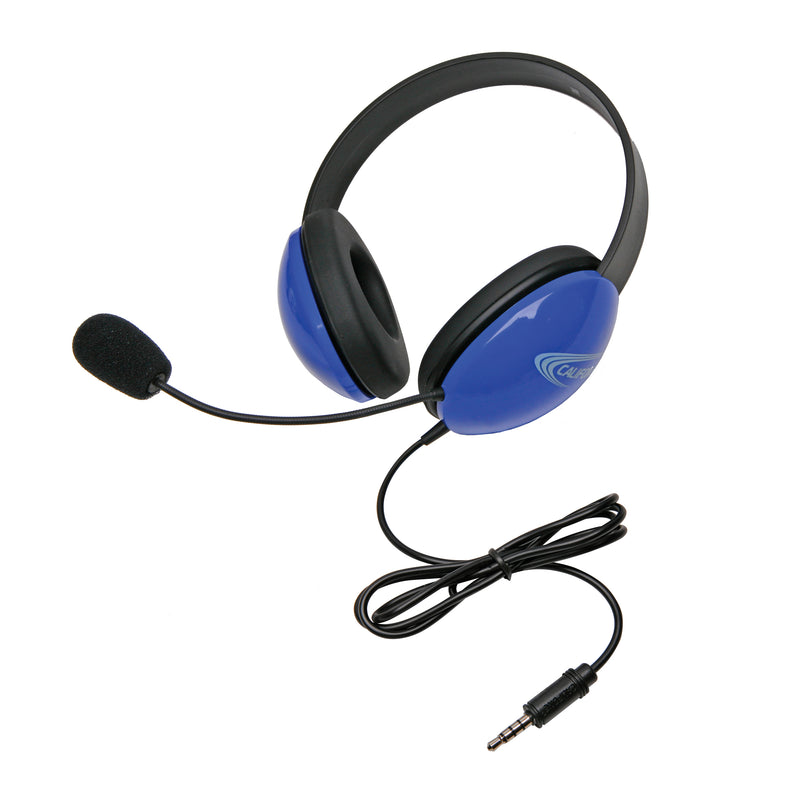 Headsets W- Single 35mm Plugs Blue Listening 1st