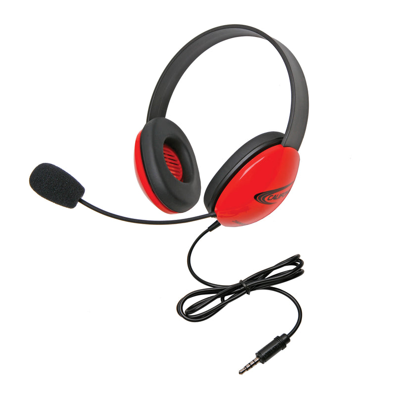 Headsets W- Single 35mm Plugs Red Listening 1st