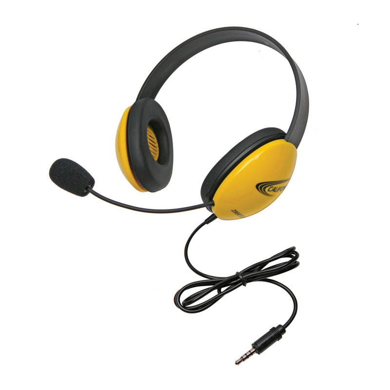 Headsets W- Single 35mm Plugs Ylw Listening 1st