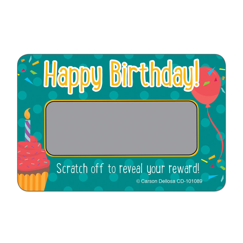 (6 Ea) Scratch Off Awards Happy Birthday