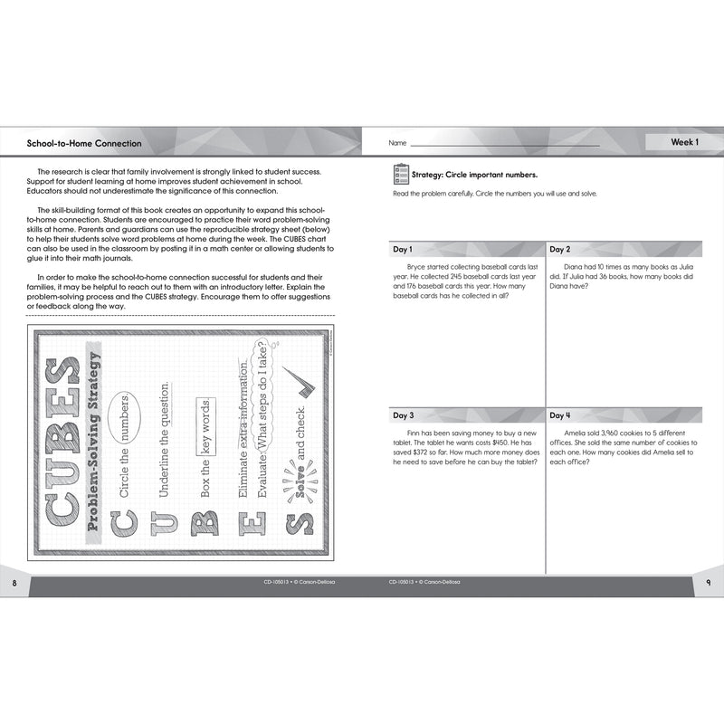 Problem Solving 4 Today Grade 5 Workbook